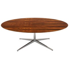 Rosewood Elliptical / Oval Dining / Conference Table by Florence Knoll