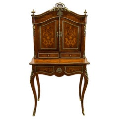 Rosewood French Inlaid Escritoire