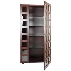 Rosewood & Glass Vitrine Cabinet or Bookcase LB65 by Marco Zanuso for Poggi, 68