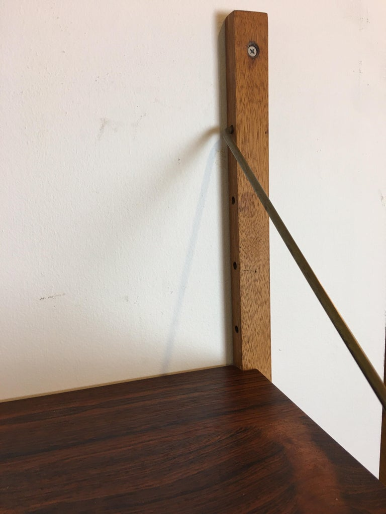 Rosewood Hanging Wall Unit/ PS System by Randers, Denmark For Sale 1
