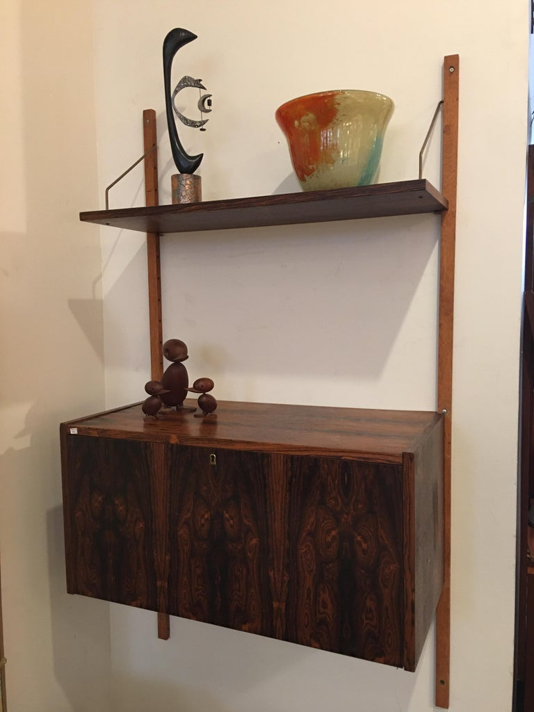 Rosewood Hanging Wall Unit/ PS System by Randers, Denmark For Sale 3