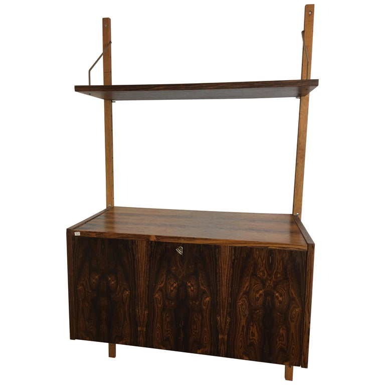 Rosewood Hanging Wall Unit/ PS System by Randers, Denmark For Sale