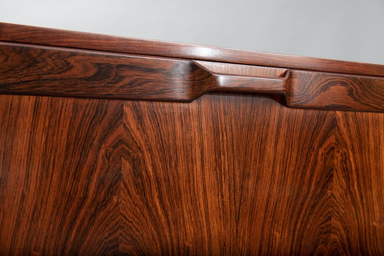Rosewood Italian Cabinet with Dry Bar in the Style of Franco Albini For Sale 3