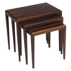 Rosewood Johannes Andersen for CF Christensen of Silkeborg Nesting Tables