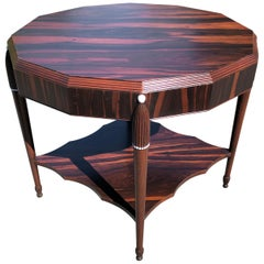 Rosewood Late Art Deco Center Table, France