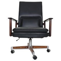 Rosewood & Leather Executive Office Chair by Arne Vodder for Sibast 1960 Denmark