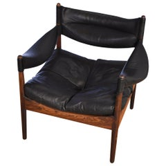 Rosewood and Leather 'Modus' Lounge Chair by Kristian Vedel for Søren Willadsen
