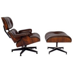 Rosewood Lounge Chair and Ottoman 670/671 by Charles Eames for Herman Miller