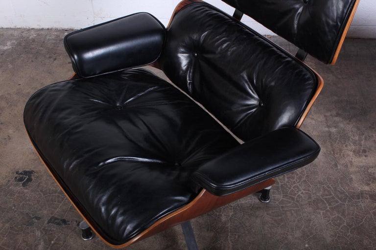 Rosewood Lounge Chair and Ottoman by Charles Eames for Herman Miller 6