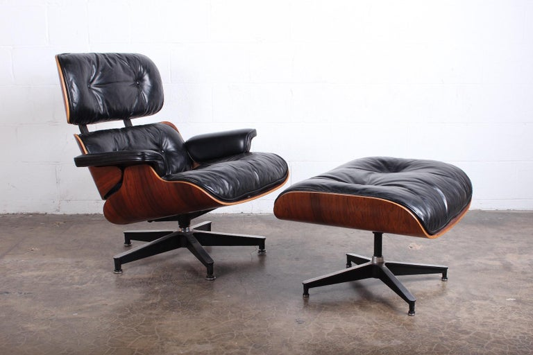 Rosewood Lounge Chair and Ottoman by Charles Eames for Herman Miller In Good Condition In Dallas, TX