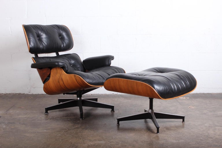 Rosewood Lounge Chair and Ottoman by Charles Eames for Herman Miller In Good Condition For Sale In Dallas, TX