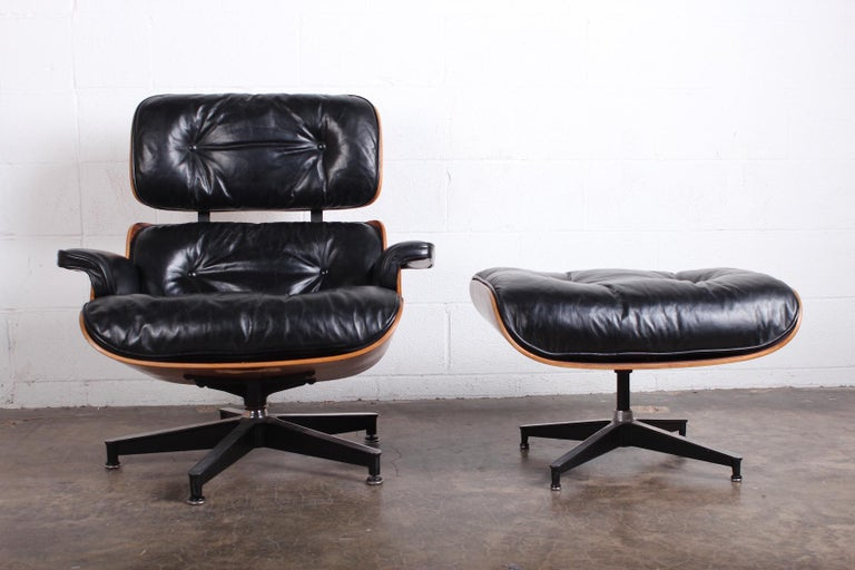 Rosewood Lounge Chair and Ottoman by Charles Eames for Herman Miller 1