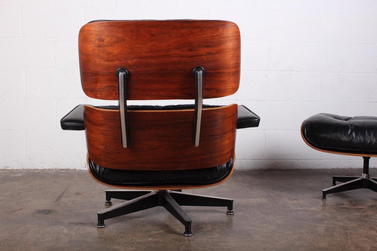 Rosewood Lounge Chair and Ottoman by Charles Eames for Herman Miller 4