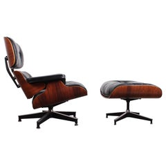 Rosewood Lounge Chair and Ottoman by Charles Eames for Herman Miller