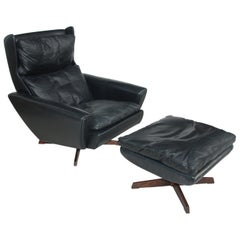 Rosewood Lounge Chair and Ottoman by Georg Thams for Vejen Polstermøbelfabrik