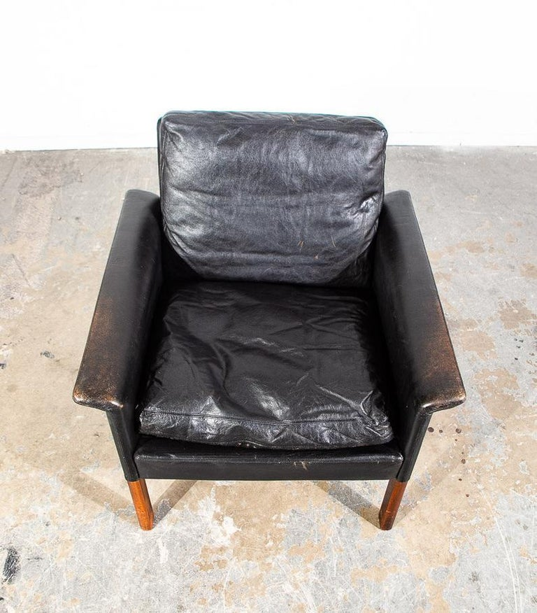 Danish Rosewood Lounge Chair by Hans Olsen for CS Møbler For Sale