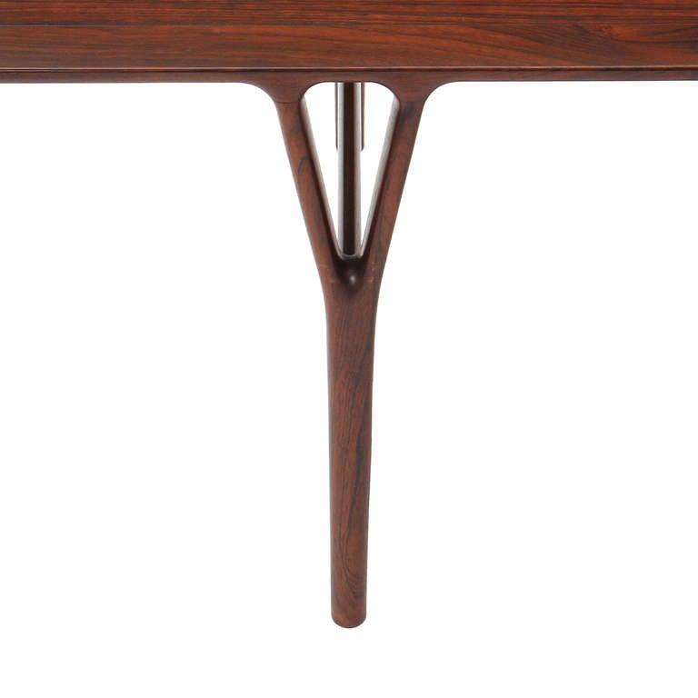 Danish Rosewood Low Table by Helge Vestergaard Jensen