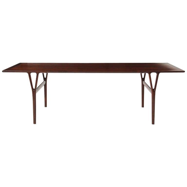 Rosewood Low Table by Helge Vestergaard Jensen
