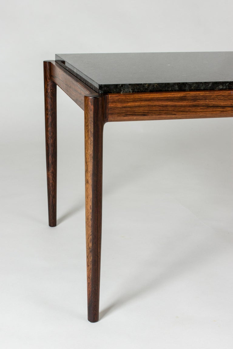 Mid-20th Century Rosewood & Marble Coffee Table by Ib Kofod-Larson for Seffle Möller, Sweden For Sale