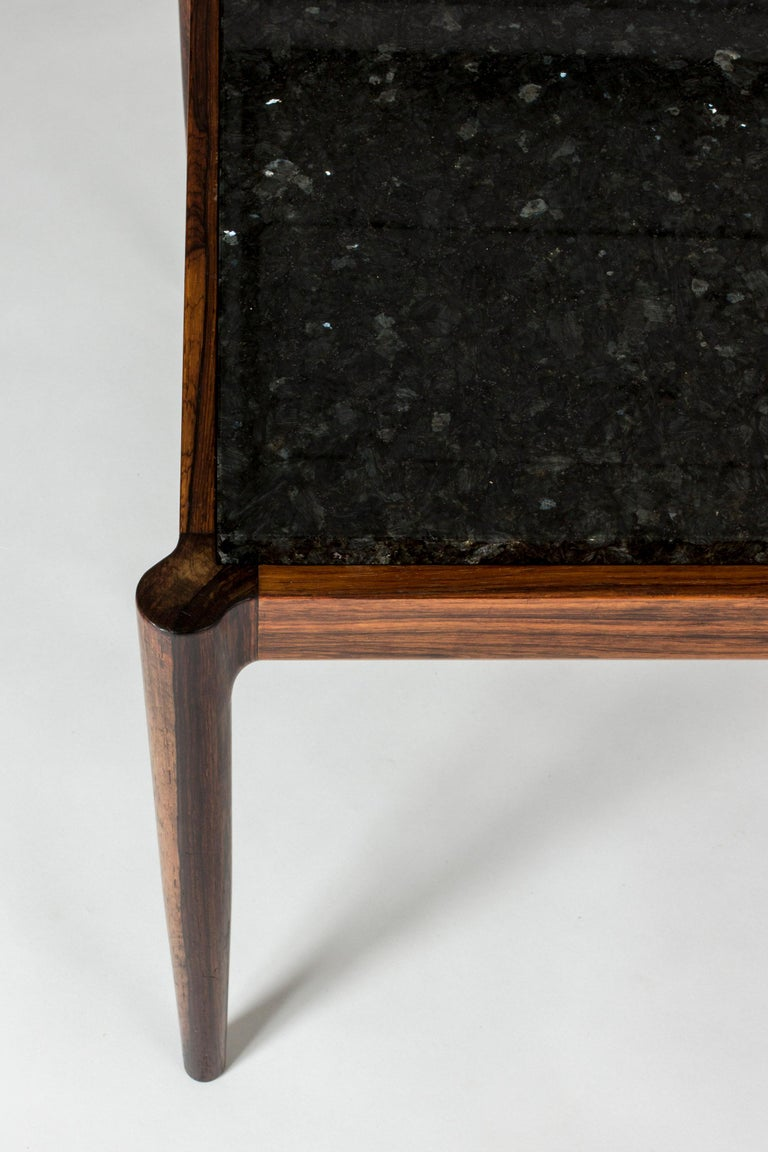 Rosewood & Marble Coffee Table by Ib Kofod-Larson for Seffle Möller, Sweden For Sale 2
