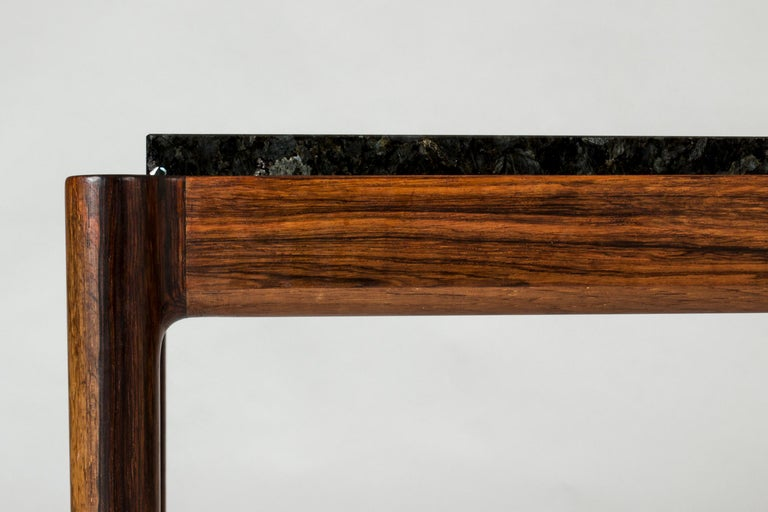 Rosewood & Marble Coffee Table by Ib Kofod-Larson for Seffle Möller, Sweden For Sale 3