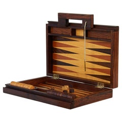 Rosewood Marquetry Backgammon Set by Don Shoemaker