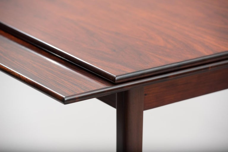 Varnished Rosewood Mid-Century Modern Danish Dining Table
