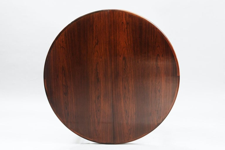 Mid-20th Century Rosewood Mid-Century Modern Danish Dining Table For Sale