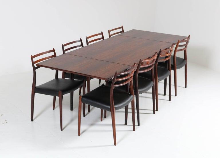 Danish Rosewood Mid-Century Modern Dining Room Set by Niels O. Møller for J.L. Møllers For Sale