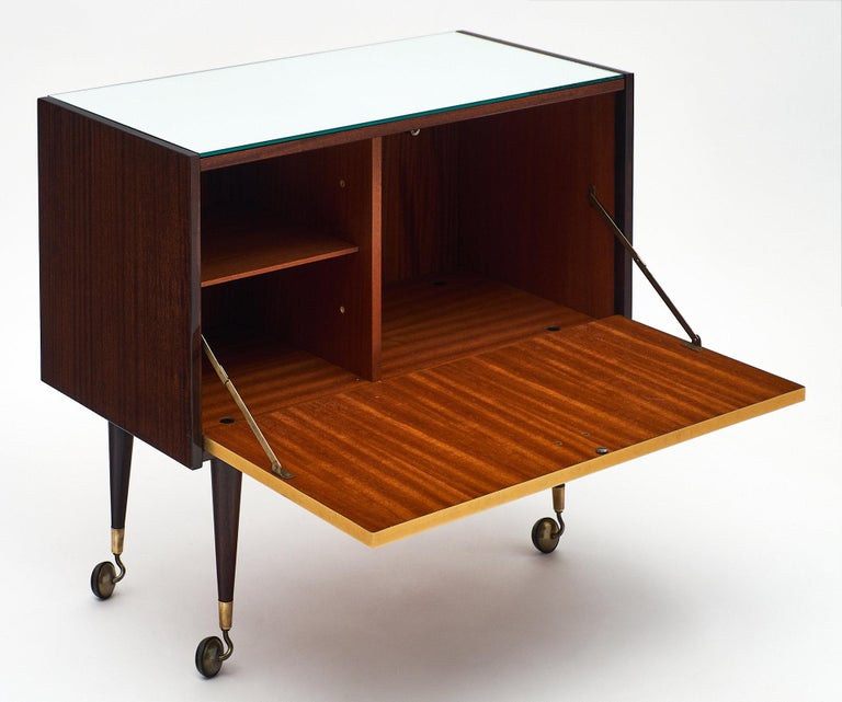Rosewood Midcentury Vintage Bar Cart 4
