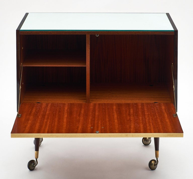 Rosewood Midcentury Vintage Bar Cart 5