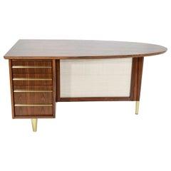 Rosewood Midcentury Desk by Miller Desk & Safe Company, 1930s