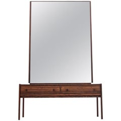 Rosewood Mirrored Dressing Table, Danish Design, 1960s