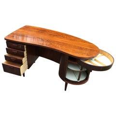 Rosewood Model 54 Desk by Kai Kristiansen for FM Mobler
