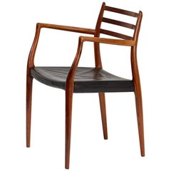 Rosewood Model 62 Armchair by Niels Møller, 1962
