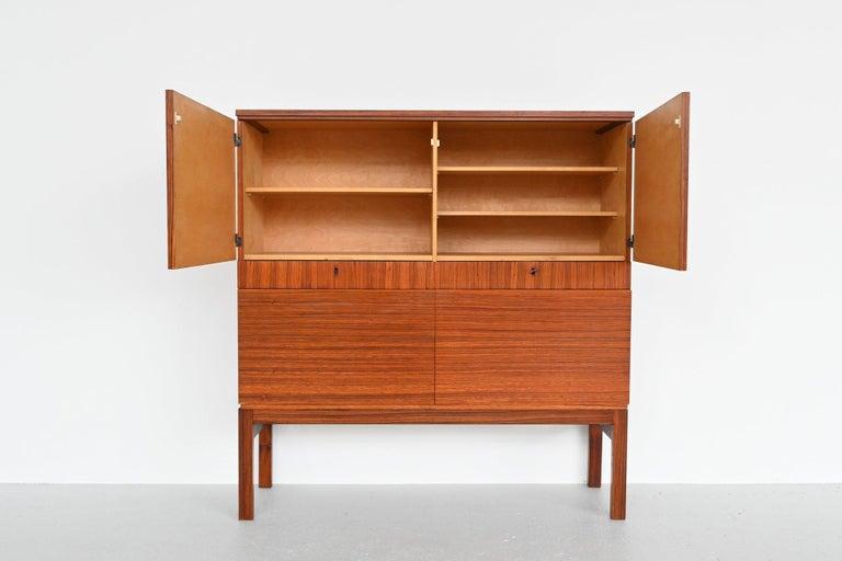 Mid-Century Modern Rosewood Modernist Cabinet, Belgium, 1964