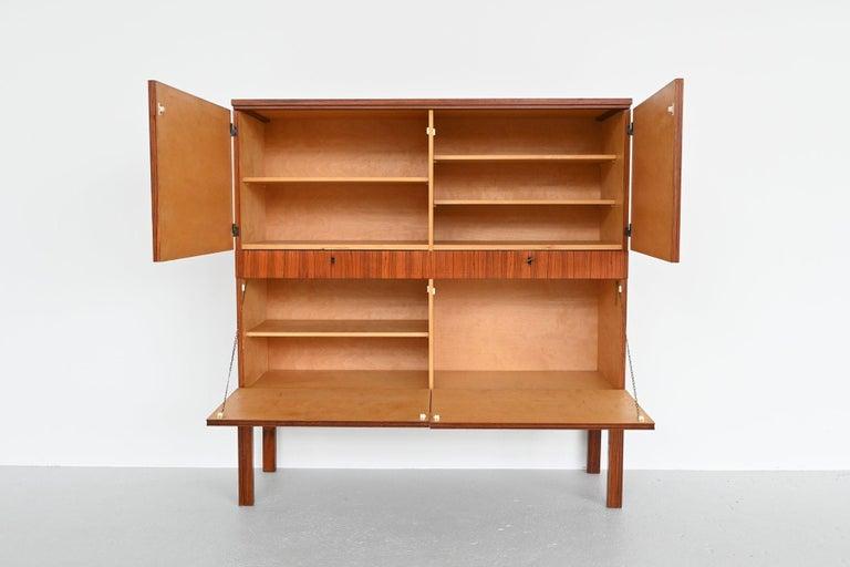Belgian Rosewood Modernist Cabinet, Belgium, 1964