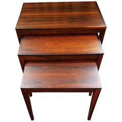 Rosewood Nesting Tables by Bent Silberg Mobler