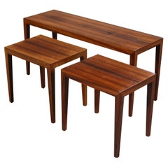 Rosewood Nesting Tables by Severin Hansen For Haslev