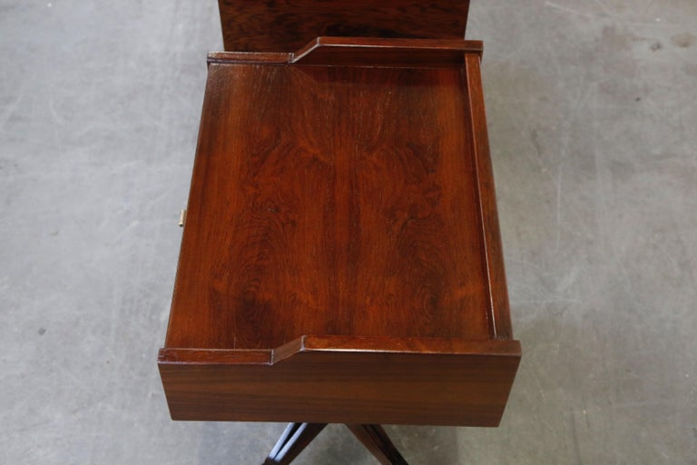 Rosewood Nightstands by Claudio Salocchi for Sormani, Italy, c 1960s For Sale 7