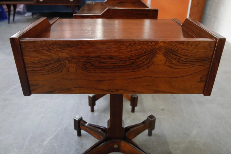 Rosewood Nightstands by Claudio Salocchi for Sormani, Italy, c 1960s For Sale 12