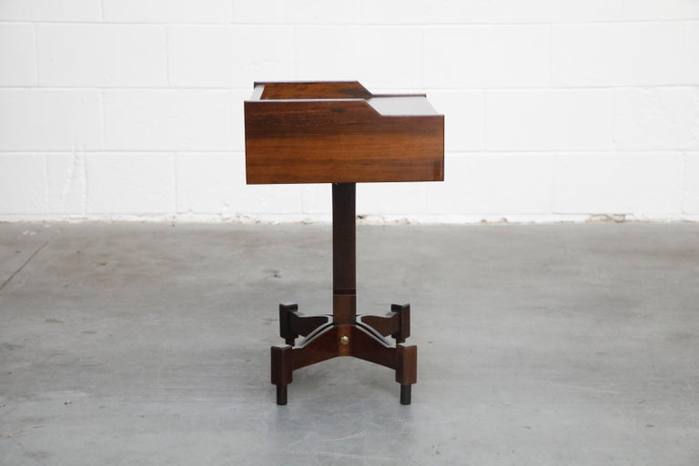 Rosewood Nightstands by Claudio Salocchi for Sormani, Italy, c 1960s In Excellent Condition For Sale In Los Angeles, CA