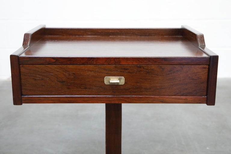 Rosewood Nightstands by Claudio Salocchi for Sormani, Italy, c 1960s For Sale 2