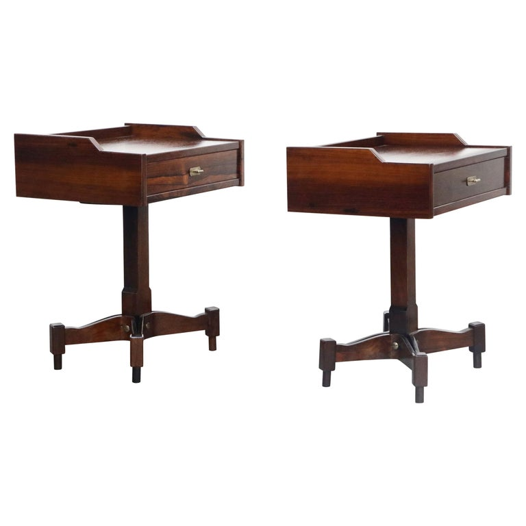 Rosewood Nightstands by Claudio Salocchi for Sormani, Italy, c 1960s For Sale