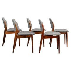 Rosewood No. 62 Dining Chairs by Arne Vodder for Sibast, 1950s, Set of 5