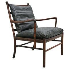 Rosewood Ole Wanscher Colonial Chair, P. Jeppesens Møbelfabrik, Denmark, 1960s