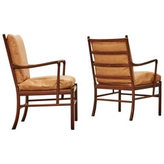 Rosewood Ole Wanscher Colonial Chairs, P. Jeppesens Møbelfabrik, Denmark, 1960s