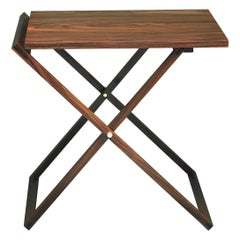 Rosewood or Walnut Occasional Criss-Cross Table 'Foldable'