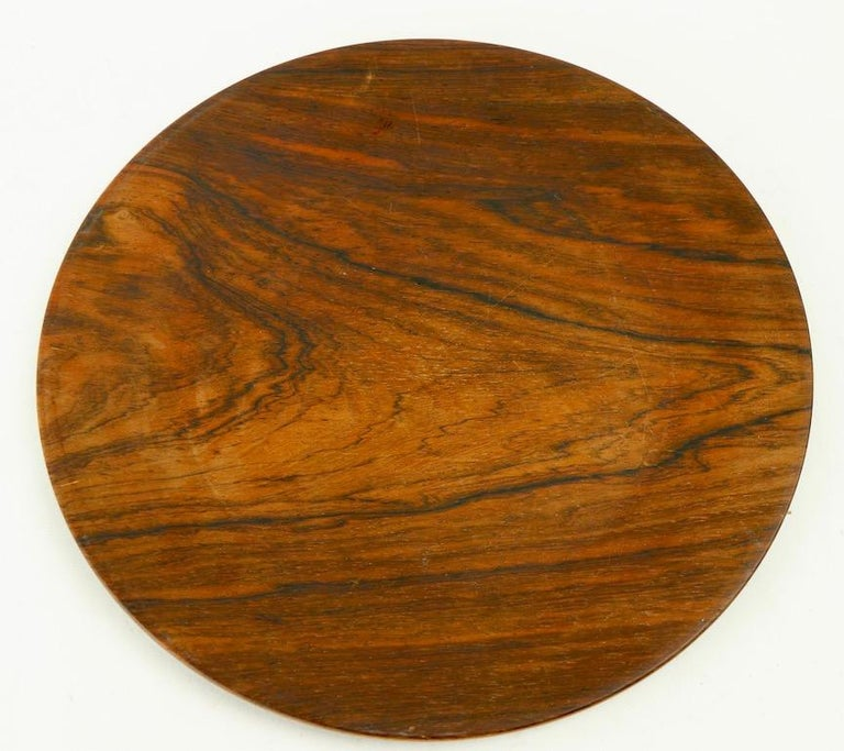 Rosewood Plate by Illums Bolighus For Sale 4