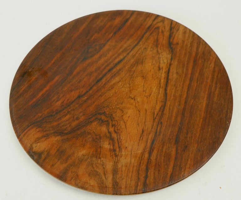 Rare rosewood plate by Illums Bolighus. Hard to find the rosewood examples, most often these are found in teak.